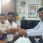 Our MD Mr. Balaji is greeting Mr. Vijayakumar & Family (JKB Inspire)