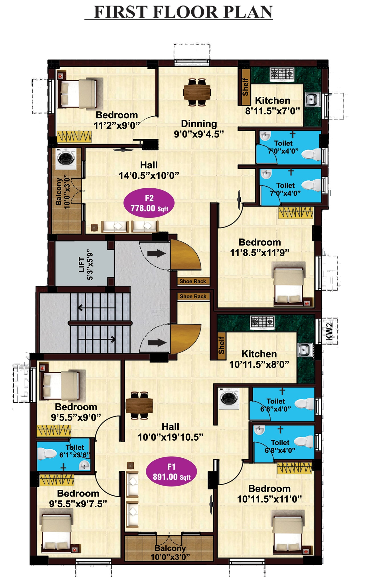 jkb-siddharth-enclave-first-floor-plan