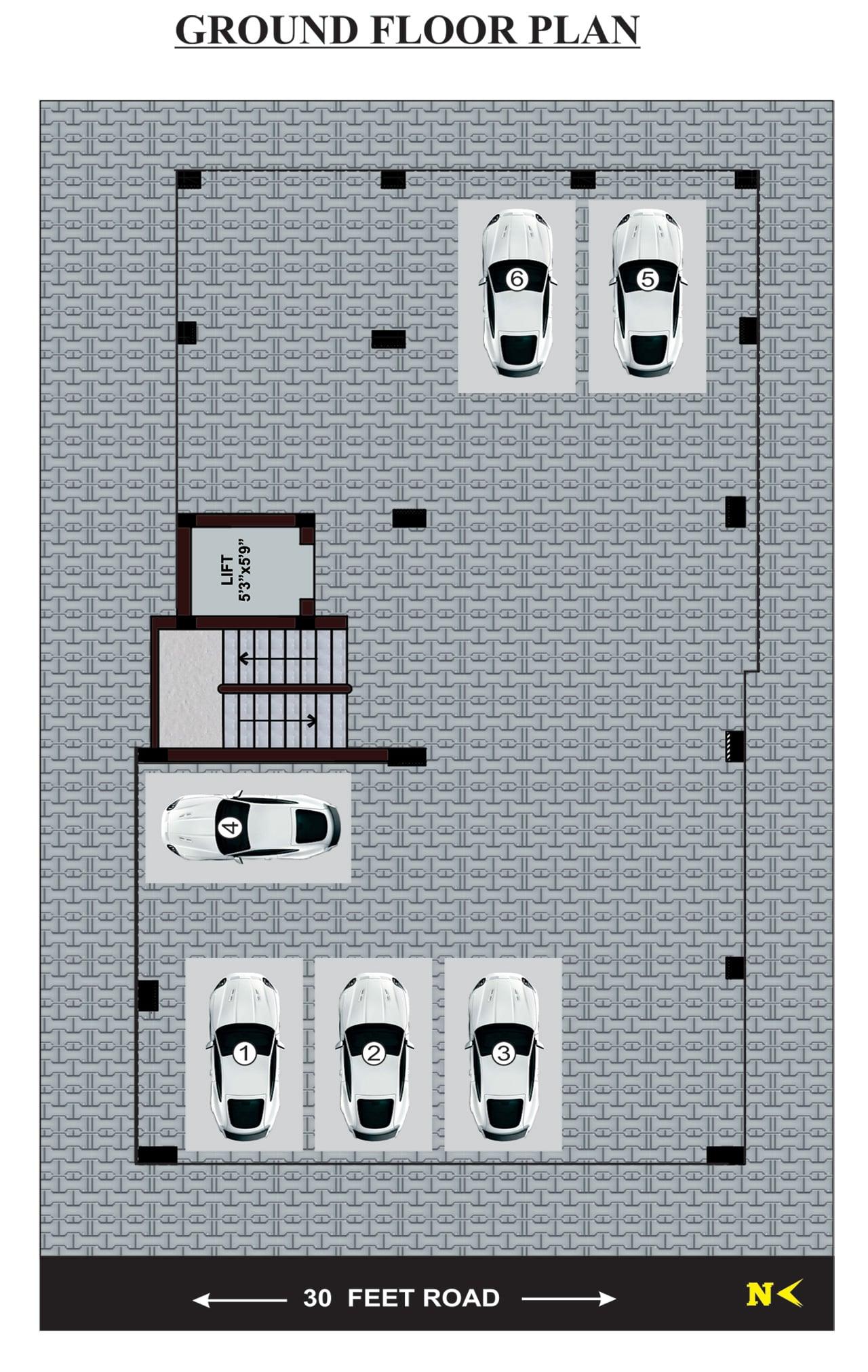 jkb-siddharth-enclave-ground-floor-plan