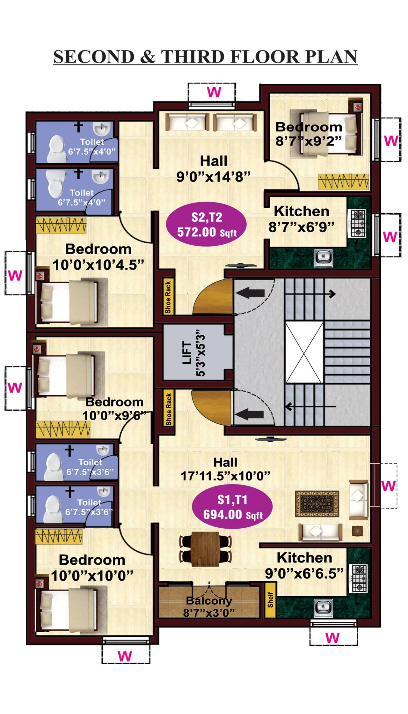 jkb-sri-ahobilam-2nd-3rd-floor-plan