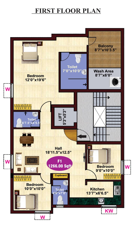 jkb-sri-ahobilam-first-floor-plan